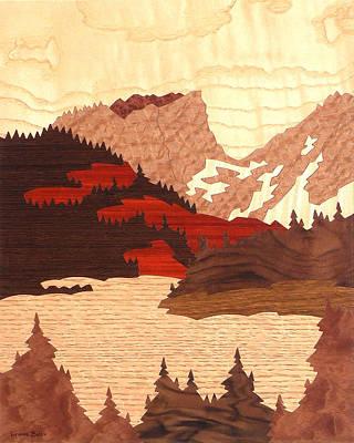 Hallett Peak Poster by Lynne Buss