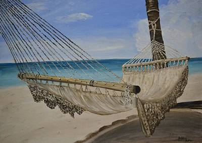 Poster featuring the painting Hammock by Debbie Baker
