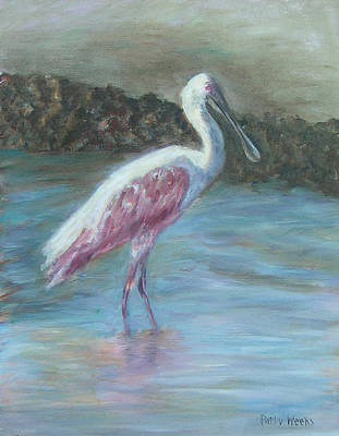 Happy Spoonbill Poster