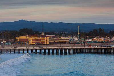 Harbor And Municipal Wharf At Dusk Poster