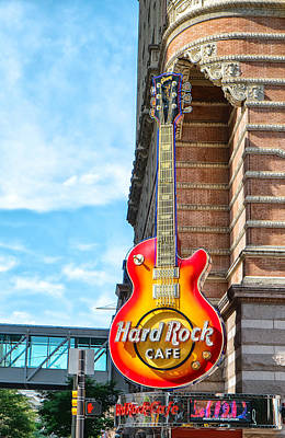 Hard Rock Cafe Guitar Poster