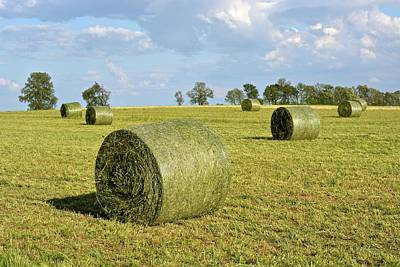 Hay Bales In Spring Poster