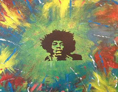 Poster featuring the painting Hendrix by Scott Wilmot