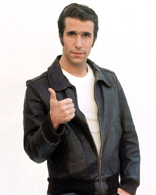 Henry Winkler In Happy Days  Poster by Silver Screen