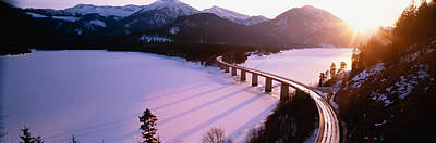 High Angle View Of A Bridge Poster by Panoramic Images