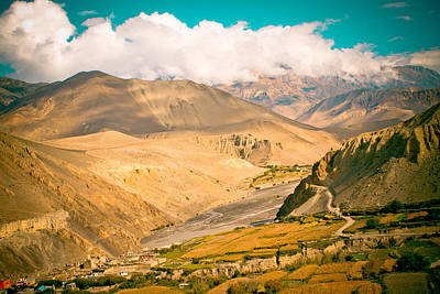 Himalayas Road To Upper Mustang Poster by Raimond Klavins