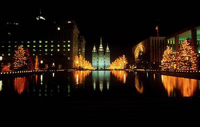 Historic Temple And Square In Salt Lake Poster