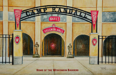 Home Of The Badgers Poster