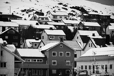 Honningsvag Town Traditional Wooden Houses Finnmark Norway Europe Poster