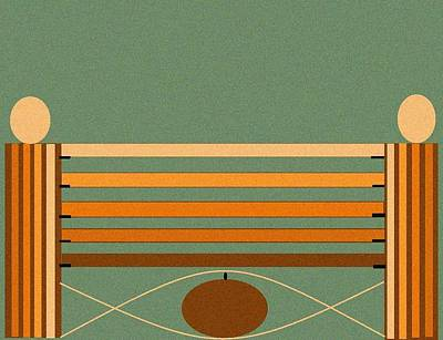 Horse Jump Design Poster