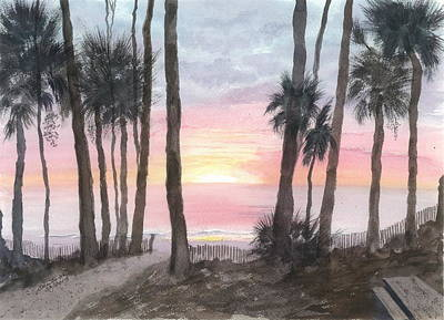 Hunting Island Sunrise Poster