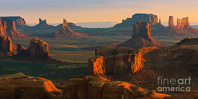 Hunts Mesa In Monument Valley Poster by Henk Meijer Photography