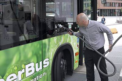 Hydrogen Fuel Cell Bus Poster by Science Photo Library