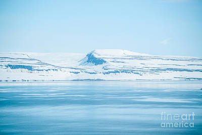 Iceland Winter Landscape Of Beautiful Mountains Covered In Snow  Poster by Aleksandar Mijatovic