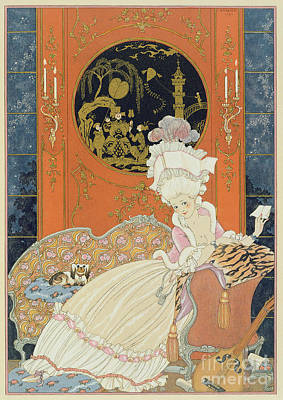 Illustration For 'fetes Galantes' Poster by Georges Barbier