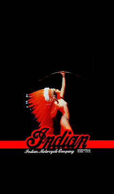 Indian Motorcycle Phone Case Poster by Mark Rogan