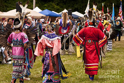 Indian Nation Pow Wow With Children   Poster