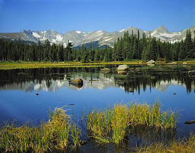 Indian Peaks Wilderness Area, Colorado Poster by Robert and Jean Pollock