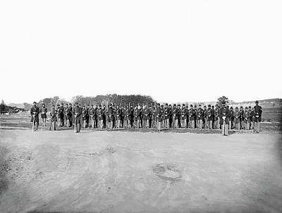 Infantry On Parade During American Poster