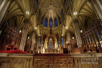 Inside St Patricks Cathedral New York City Poster