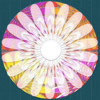 Intuitive Chakra Yoga Meditation Background Designs  And Color Tones N Color Shades Available For Do Poster by Navin Joshi
