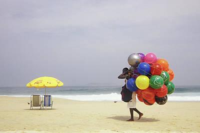 Ipanema Beach, Rio De Janiero,, Brazil Poster by Kevin Berne
