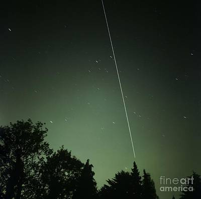 Iss Light Trail, Time-exposure Image Poster