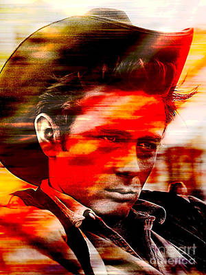 James Dean Poster by Marvin Blaine