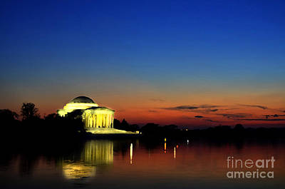 Jefferson Monument Reflection Poster by Lane Erickson
