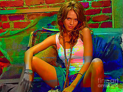 Jessica Alba Poster by Marvin Blaine