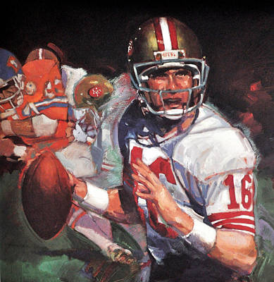 Joe Montana Poster by Jay Milo