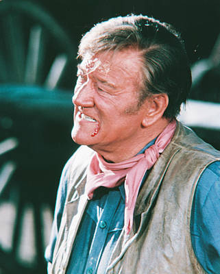 John Wayne In The Cowboys Poster by Silver Screen