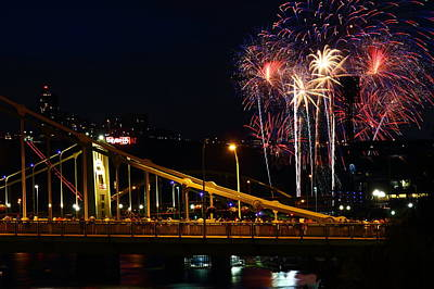 July 4th Fireworks In Pittsburgh Poster
