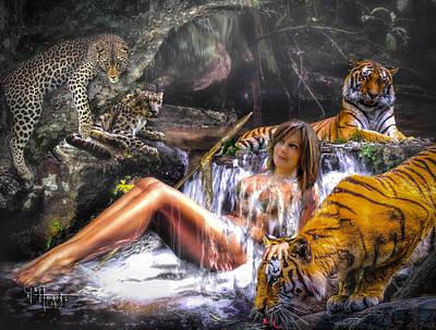 Poster featuring the photograph Jungle Ginns by Glenn Feron