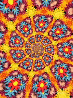Kaleidoscope Daisies Poster by Amy Cicconi