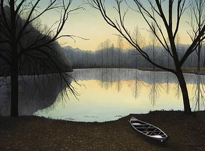 Lake Lene' Morning Poster