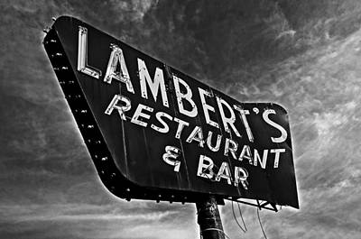 Lambert's Restaurant And Bar Poster by Andy Crawford