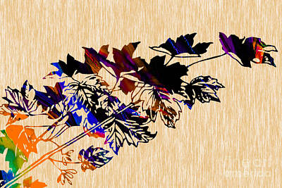Leaves Painting Poster