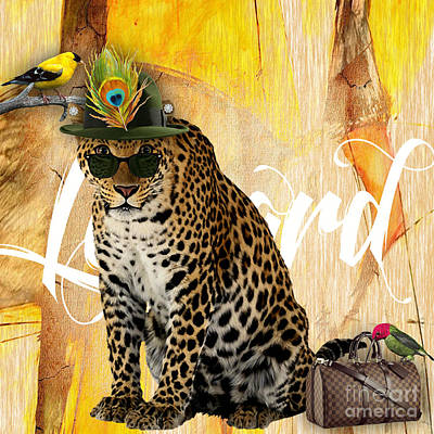Leopard Collection Poster by Marvin Blaine