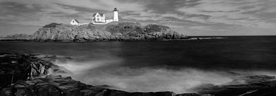 Lighthouse At A Coast, Nubble Poster