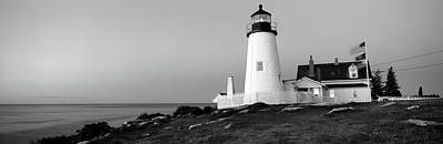 Lighthouse On The Coast, Pemaquid Point Poster by Panoramic Images