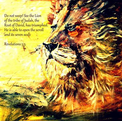 Lion Of Judah Strength Poster