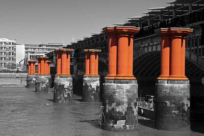London Thames Bridges Poster by David French