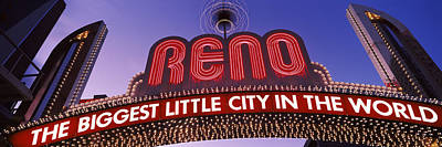 Low Angle View Of The Reno Arch Poster by Panoramic Images