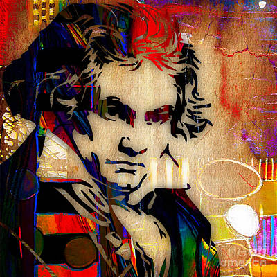 Ludwig Van Beethoven Collection Poster by Marvin Blaine