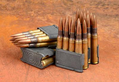 M1 Garand Clips And Ammunition. Poster by John Bell