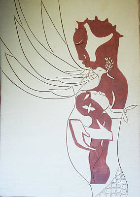 Madonna And Child Poster by Gloria Ssali