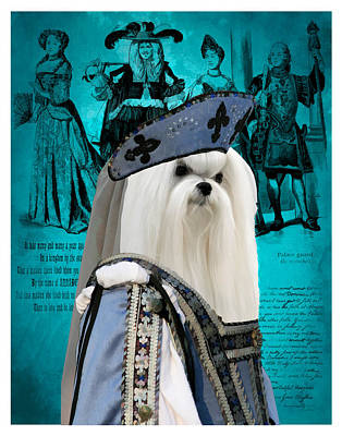 Maltese Art Canvas Print Poster