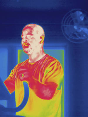 Man Exercising, Thermogram Poster by Science Stock Photography