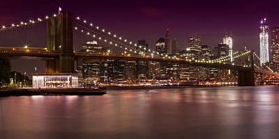 Manhattan By Night Poster by Melanie Viola